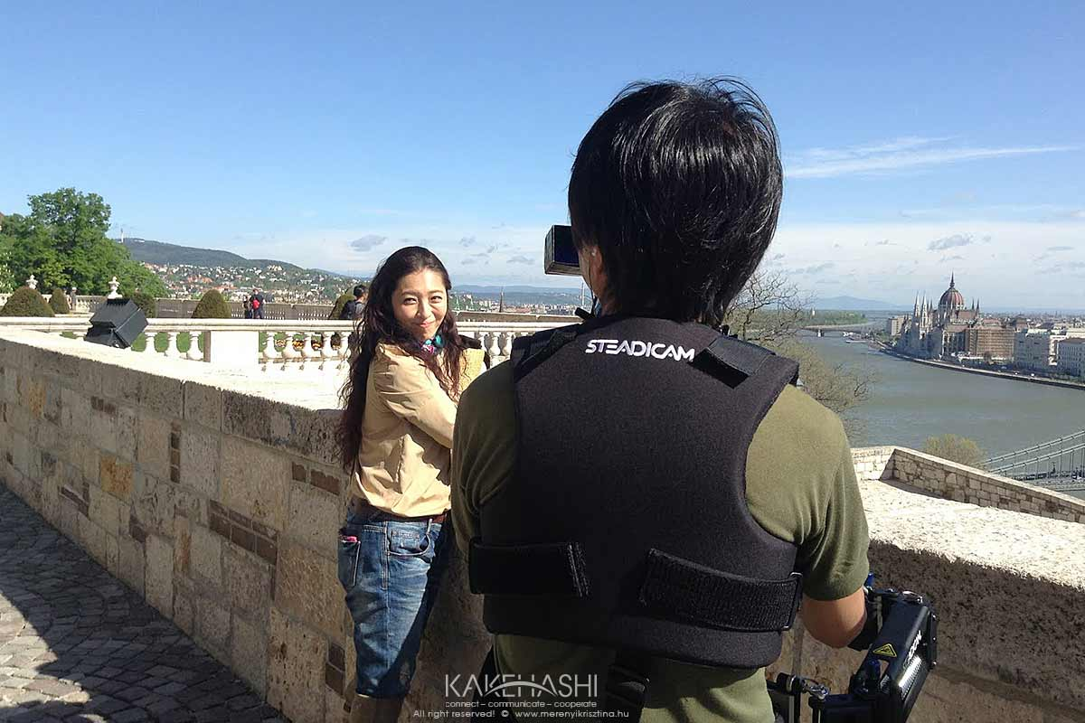 Film shooting with the famous Japanese actress, Arimori Narimi in Budapest