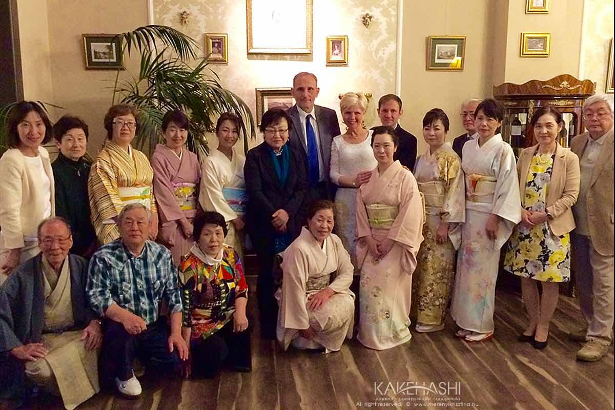 Ikebana masters in Gödöllő