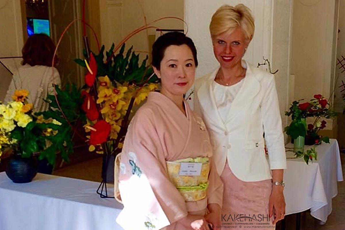 Ikebana workshop members at Gödöllő Royal Palace