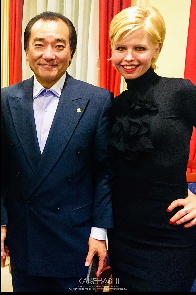 With Izaki Masahiro, the Conductor of Szolnok Symphonic Orchestra, (we had a lot of Hungarian-Japanese Music projects together)