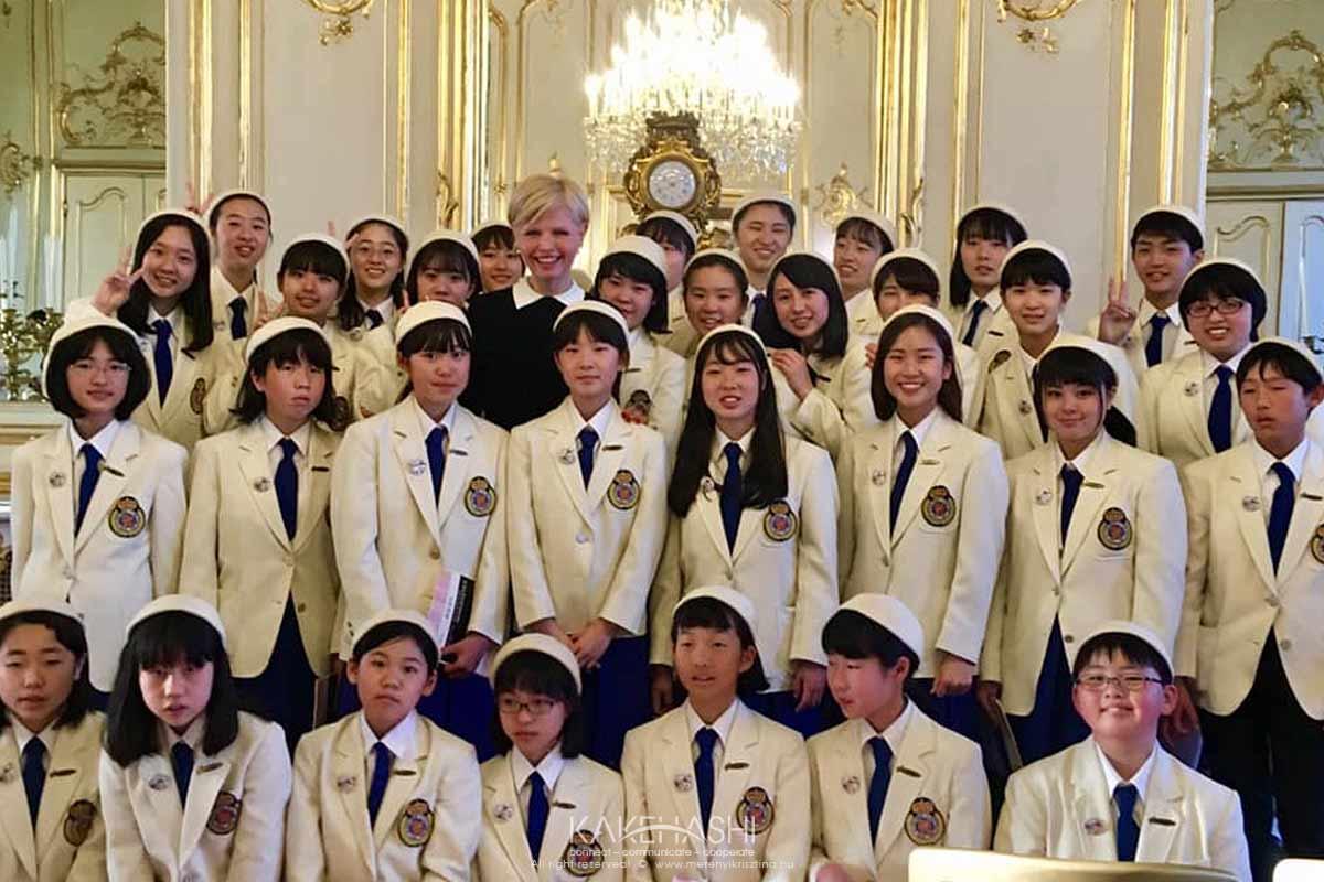 Japanese children choir concert at Festetics Palace in Keszthely