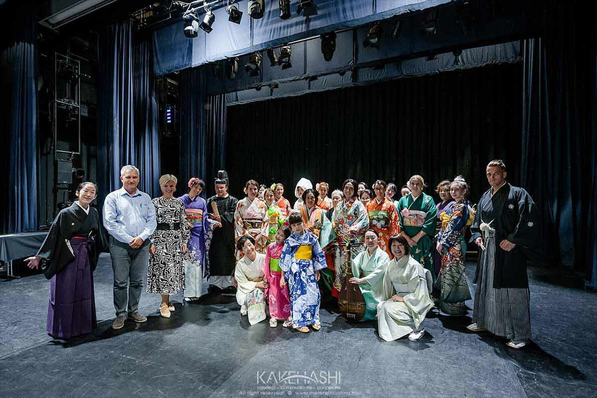 Traditional Kimono show on the 150th anniversary of the Hungarian-Janapnese diplomatic relations